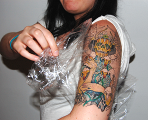 Aftercare salem ink custom tattoo studio in salem ma for Tattoo bandage removal